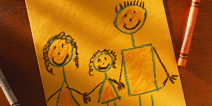 Child's Drawing of Family