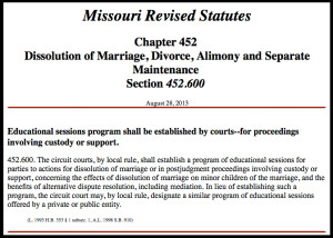 Co Parenting Missouri Statute
